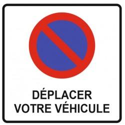 Panneau déplacer votre véhicule