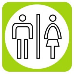 Aucollant Toilettes mixtes