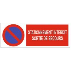 Panneau stationnement interdit sortie de secours