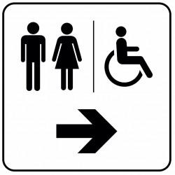 Aucollant WC direction droite