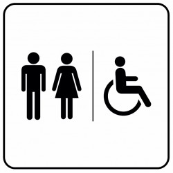 Aucollant WC mixtes et handicapés