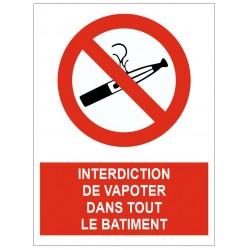 Panneau interdiction de vapoter dans tout le bâtiment