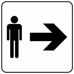 Aucollant WC hommes direction droite