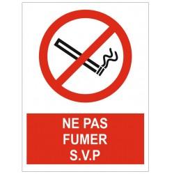 Panneau ne pas fumer svp