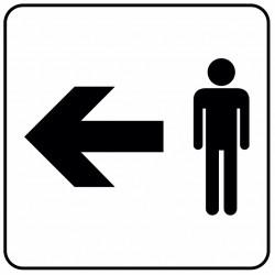 Aucollant WC hommes direction gauche