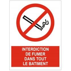 Panneau interdiction de fumer dans tout le bâtiment