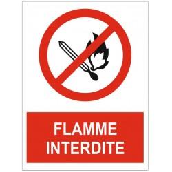 Panneau flamme interdite