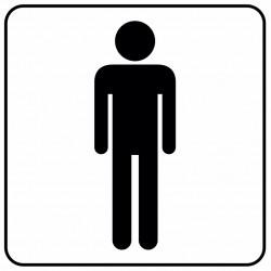 Aucollant WC femmes direction gauche