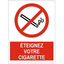 Panneau éteignez votre cigarette