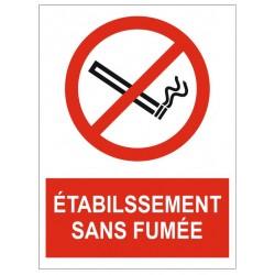 Panneau établissement sans fumée