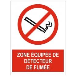 Panneau zone équipée de détecteur de fumée