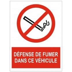 Panneau défense de fumer dans son véhicule