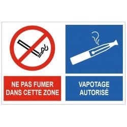 Panneau ne pas fumer vapoter autorisé