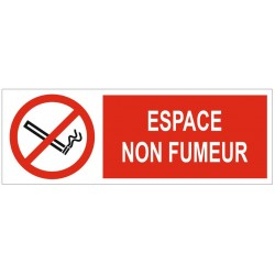 Panneau espace non fumeur