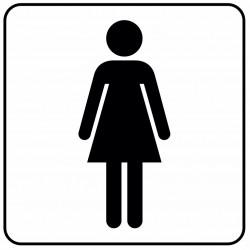 Aucollant WC femmes direction droite