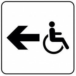Aucollant WC handicapés direction droite
