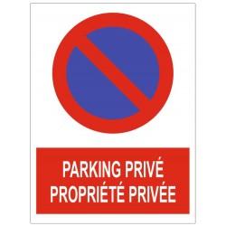 Panneau parking privé propriété privée