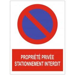 Panneau propriété privée stationnement interdit