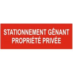 Panneau stationnement interdit propriété privée