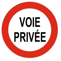 Panneau voie privée