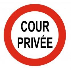 Panneau cour privée