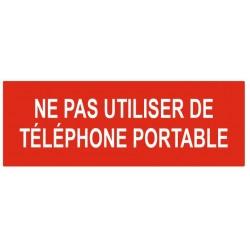 Panneau ne pas utiliser de téléphone portable