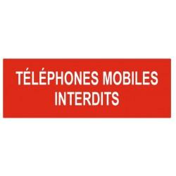 Panneau téléphones mobiles interdits