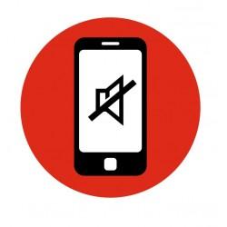 Panneau sonnerie téléphone portable interdit