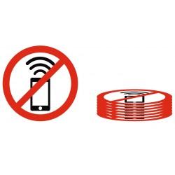 Lot Panneau téléphone portable interdit