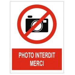 Panneau photo interdit merci
