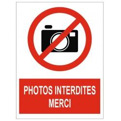 Panneau photos interdites merci