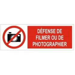Panneau défense de filmer ou de photographier