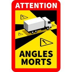 Autocollant ou magnet : angles morts camion
