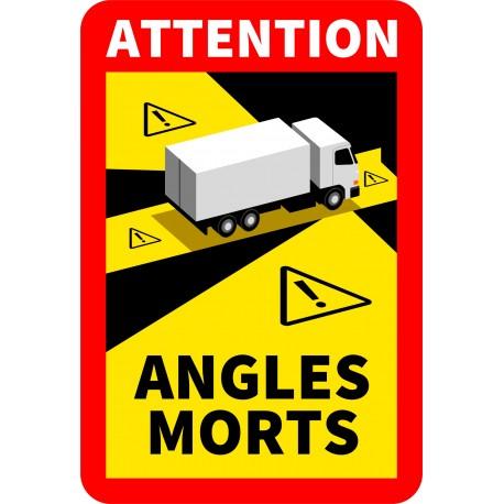 Panneau autocollant Angle mort camion