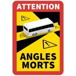 Panneau autocollant Angle mort Bus