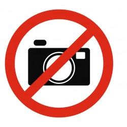 Panneau photo interdit