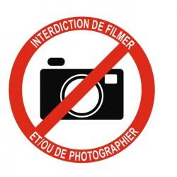 Panneau interdiction de filmer ou de photographier