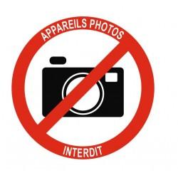 Panneau appareils photos interdit