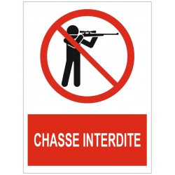 Panneau chasse interdite