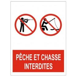 Panneau pêche et chasse interdites