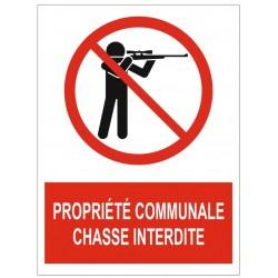 Panneau propriété communale chasse interdite