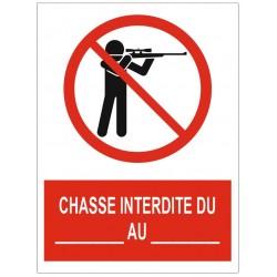 Panneau chasse interdite date