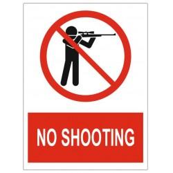 Panneau no shooting