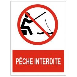 Panneau pêche interdite
