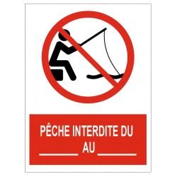 Panneau pêche interdite date