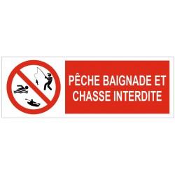 Panneau pêche, baignade et chasse interdites