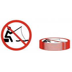 Lot Panneaux pêche interdite