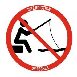 Panneau interdiction de pêcher