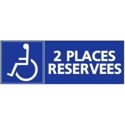 Stationement parking 2 places réservées handicapés
