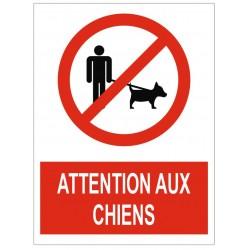 Panneau attention aux chiens